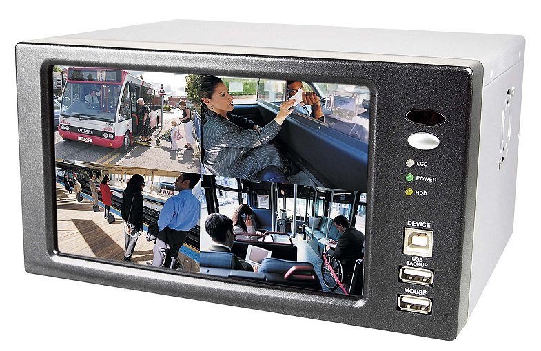 7-inch Colour LCD Screen plus a 4-channel DVR (Combo Unit)..Pre-instal