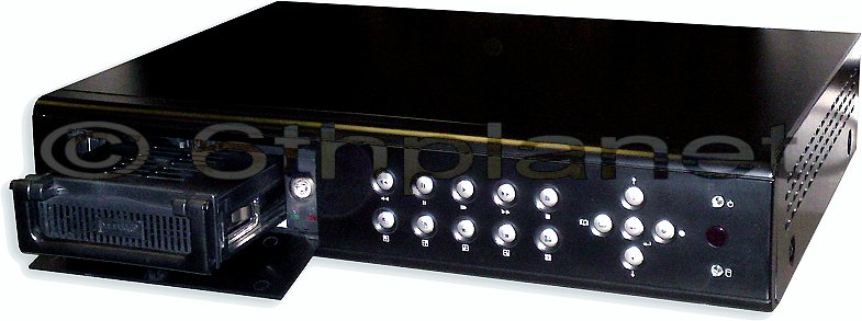 250Gb 16-Channel CCTV Recorder DVR with Networking and Removable HDD T