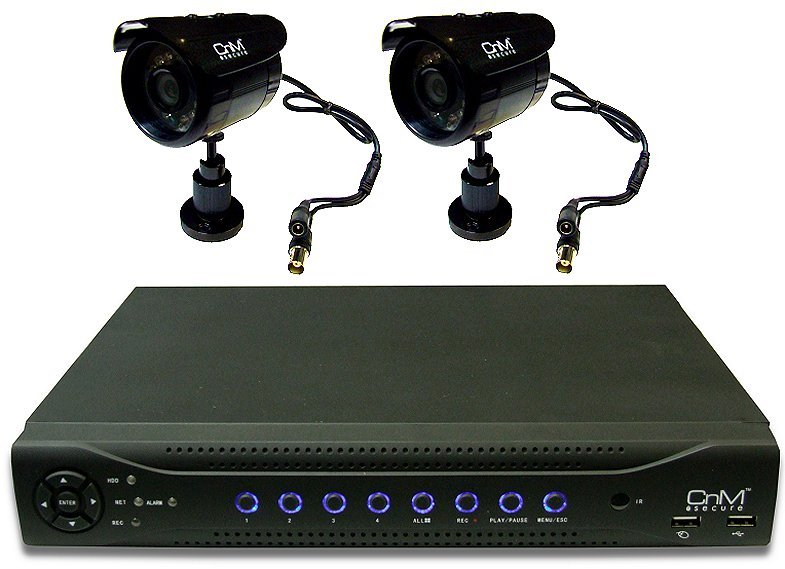 500Gb 4 Channel CnM Primus DVR with 2 Cameras + Advanced Mobile Access