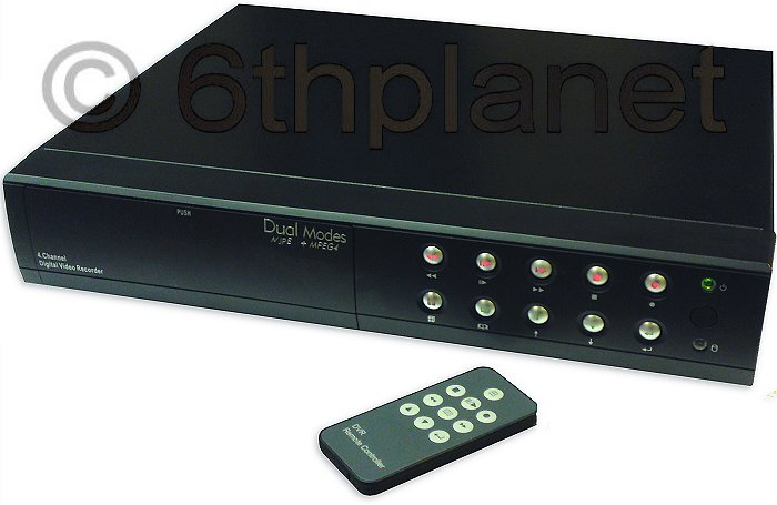 Network 4 Channel Digital Video recorder with remote network monitorin