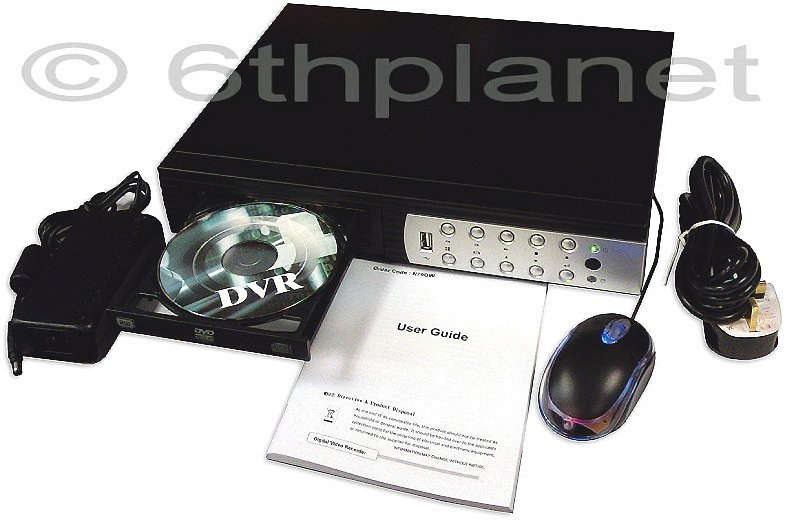500Gb 8-Channel Triplex Network CCTV Recorder (DVR) with DVD-RW, N75HH