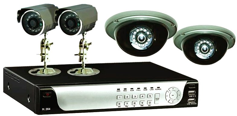 1TB H.264 Network DVR with 4 x CCD Cameras.