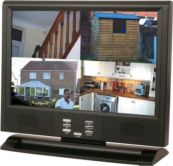 19'' LCD PC / AV Monitor with built-in 160Gb CCTV HDD 4 Channel DVR