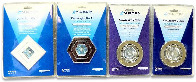 Aurora downlight pack, low voltage halogen, adjustable cast. Pn - AU-L