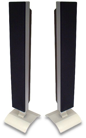 Pair of Deawoo 42'' Plasma panel speakers with Base. ( Silver ). Ex-de