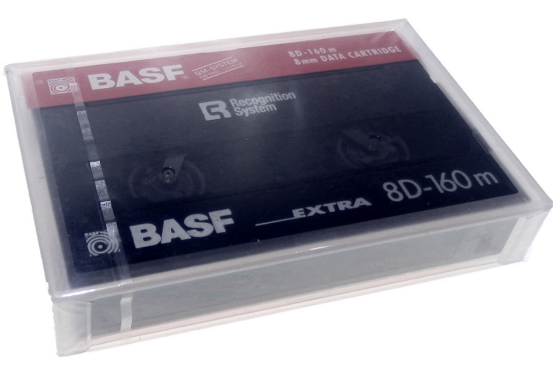BASF 20/40Gb 8D-160m 8mm data Tape recognition system for 8mm Exabyte
