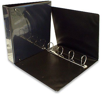 Box of 10 38mm 4-D Black Presentation Binders. New & Tatty Boxed.