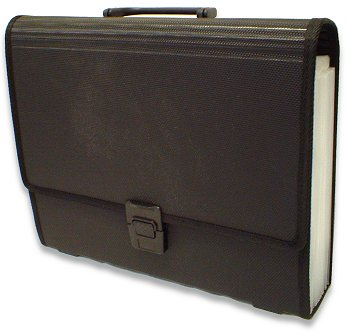 Bantex File Case. With 22 Clear Tabbed A4 pockets. Black. New & Boxed.