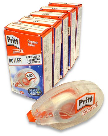 5 x Pritt Correct-it Compact Roller. 8.4mm Wide x 8.5m long.