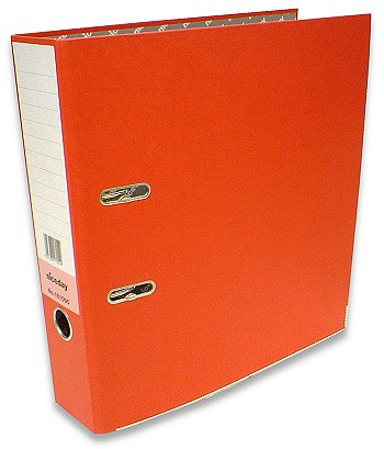 Box of 10 Red Foolscap Lever Arch Files. As New & Tatty Boxed.